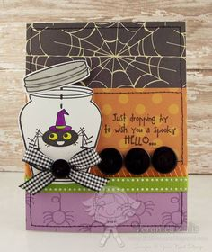 A Spooky Hello by Ronie - Cards and Paper Crafts at Splitcoaststampers