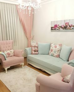 Lovely home decor Home Room Design, Living Room Designs, Living Room Decor, Bedroom Decor, Living Area, Pastel Living Room, Pastel Room, Shabby Chic Bedrooms, Shabby Chic Decor