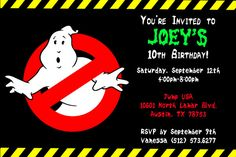 Ghostbusters Invitation #2