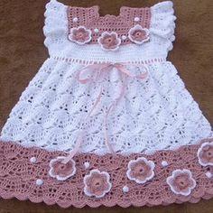 vestido de tecido com pala de croche - Pesquisa Google