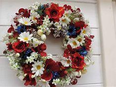 Clarah / Poľný letný veniec (I.) Vence, Floral Wreath, Wreaths, Home Decor, Garlands, Flower Crowns, Door Wreaths, Deco Mesh Wreaths, Interior Design