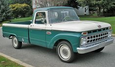Example of Holly Green paint on a 1965 Ford Truck  owned one of these only it was red and white.  tough truck