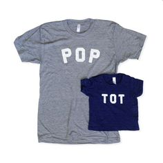 Pop and Tot tees, $25 and $30. [Cup of Jo Father's Day Gift Guide, 2015]