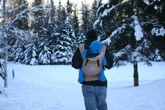 (i)...through the snow...  #ergobaby #idealmothersday #babywearing