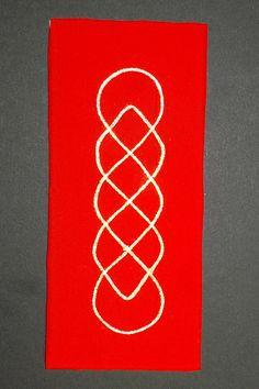 #kreinik sample using: Number 6225 (#16 Braid) Iron-on thread  kreinik arnoldsattic.blogspot.co.uk/
