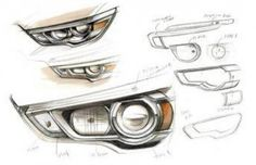 Mitsubishi ASX Headlight Design Sketches - from the gallery: Automotive Exteriors - Headlights