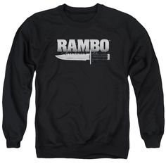 """Checkout our #LicensedGear products FREE SHIPPING + 10% OFF Coupon Code """"Official"""" Rambo:first Blood / Knife - Adult Crewneck Sweatshirt - Rambo:first Blood / Knife - Adult Crewneck Sweatshirt - Price: $39.99. Buy now at https://officiallylicensedgear.com/rambo-first-blood-knife-adult-crewneck-sweatshirt"""