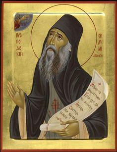 Silouan the Athonite by Aleksandra Spasic Byzantine Icons, Patron Saints, Orthodox Icons, Catholic, Disney Characters, Fictional Characters, Image, Art, Art Background