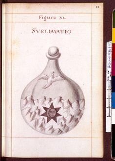 Figura XI - Sublimatio - Sapientia veterum philosophorum, sive doctrina eorumdem de summa et universali medicina 40 hierogliphis explicata