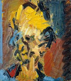 Frank Auerbach, Head of William Feaver, Oil on board, 451 x 406 mm. Collection of Gina and Stuart Peterson © Frank Auerbach, courtesy Marlborough Fine Art. Frank Auerbach, Figure Painting, Painting & Drawing, Tate Britain, Artwork Images, Exhibition Poster, Art Walk, First Art, Art Blog