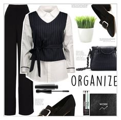 """Organize"" by mycherryblossom ❤ liked on Polyvore featuring Rochas, Sloane Stationery and Kikkerland"