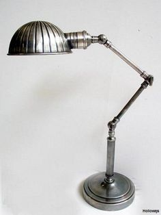 Ribbed pewter desk lamp, Floor & table lamps, Industrial lighting, Classic and period lighting, Holloways of Ludlow Desk Light, Light Table, Bedside Lamp, Desk Lamp, Industrial Lighting, Industrial Style, Anglepoise, Table Desk, Table Lamps