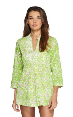 Sarasota Beaded Tunic love this vintage print and the style of this tunic is so easy breezy ...it's my third... Feels like your in your Jammie's but dressed for any luncheon