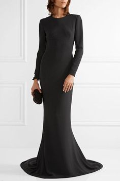Stella McCartney - Renee Cutout Stretch-cady Gown - Black - IT38