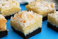 Black Bottom Coconut Bars  #coconut #cookies #brownies