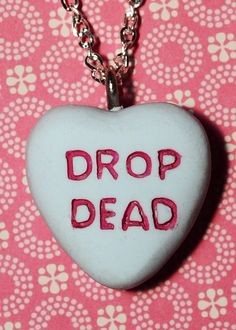 Candy Heart  Pendant Necklace   Drop Dead Candy by VonErickson I need this.