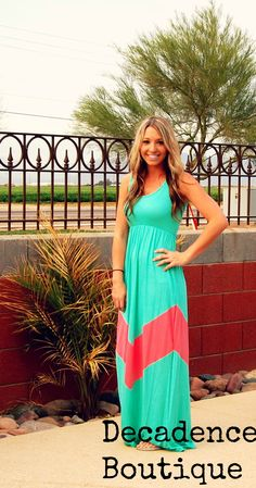 GIVEAWAY!! REPIN TO WIN!! ENDS THURS 4/4 @ 5PM!! PIN AWAY!! The decadence chevron maxi only $25.00! www.decadenceboutique.biz