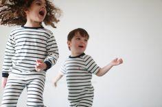 Pyjama marinière pour enfant fille et garçon // #clothes, #night, #children, #happy Pajama Party, Colorful Decor, Pyjamas, How To Memorize Things, Pretty, Tops, Women, Fashion, Kid