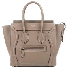 CELINE Luggage Micro Shopper Leather Tote Bag 167793D Souri Used F/S Celine Luggage, Gucci, Tote Bag, Leather, Bags, Products, Handbags, Totes, Bag