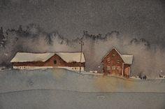 Akvarell av Björn Bernström