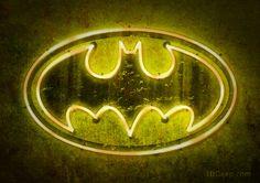 """Batman Logo - Neon"" by 3ftDeep"