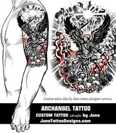 archangel tattoo, junot attoo designs