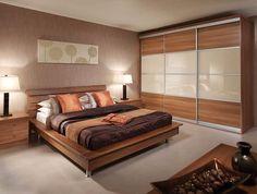 Four panel sliding wardrobe door Bedroom Cupboard Designs, Wardrobe Design Bedroom, Modern Bedroom Design, Bed Design, Bedroom Cupboards, Modern Design, Fitted Bedroom Furniture, Fitted Bedrooms, Bedroom Decor
