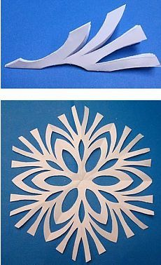 Fazer flocos de neve com as mãos