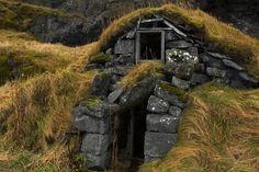 Old Turf House Near Eyjafjallajökull