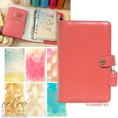 Websters Pages - Color Crush Collection - Personal Planner Kit - Light Pink at Scrapbook.com