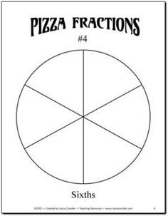 FREE Pizza Fraction Fun including fraction circle templates