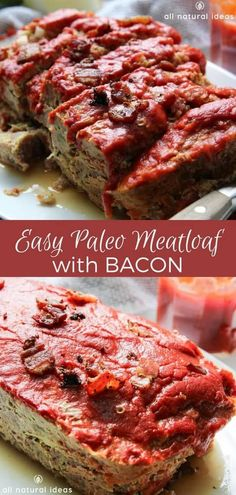 If Youre Tired Of Regular Meatloaf Then This Easy Paleo Meatloaf With Bacon Rec Low Carb Recipes Meatloaf Recipes If Youre Tired Of Regular Meatloaf Then This Easy Paleo Meatloaf With Bacon Rec Low Carb Recipes Meatloaf nbsp hellip Sugar Free Recipes, Bacon Recipes, Paleo Recipes, Appetizer Recipes, Easy Recipes, Cheese Recipes, Dinner Recipes, Appetizers, Bacon Meatloaf