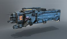 concept ships: Spaceship and interior by mechaonda
