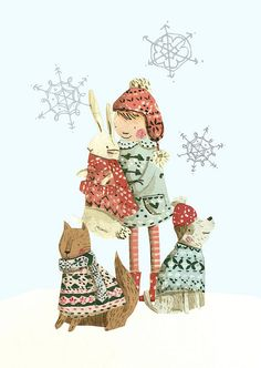 animals in jumpers  by emma block, via Flickr