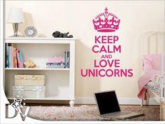 Falmatrica választathó szöveggel, többféle méretben és színben #egyedi #falmatrica #faltetoválás #felirat #egyszarvú #unikornis #gyerekszoba #otthon #lakás #dekorálás #korona #gyerekeknek Keep Calm And Love, Bookcase, Unicorn, Shelves, Home Decor, Shelving, Decoration Home, Room Decor, Book Shelves