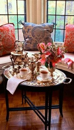 Afternoon Tea set up. Afternoon Tea Parties, Cuppa Tea, My Cup Of Tea, Tea Service, Tea Recipes, High Tea, Tea Time, Tea Cups, Table Settings