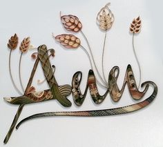 Quilling, name, Ann  My first forays into quilling! - by: Ann of quillingmadeeasy.blogspot.com