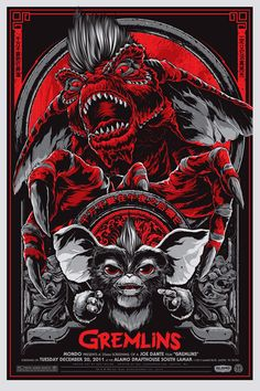 Gremlins #MoviePoster #Movie #poster by Ken Taylor