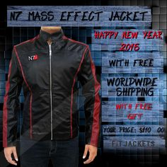 """N7 MASS EFFECT JACKET  The most splendid masterpiece of Mass Effect N7 Logo Jacket from the famous game """"Mass Effect 3"""" is now made available in exact outlook only at fitjackets with free shipping worldwide. Also avail free sunglasses on every order!! #WinterSale #MensClothing #GamingCostume #MassEffect3 #N7LogoJacket #WinterCostume #NewYear2015 #Fashion #MensCoat #MensFashion"""