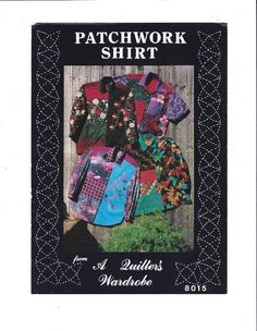 1991 Pattern for Patchwork Shirt 8015 from A Quilter's Wardrobe by Anne Colvin, Sz Small to X-Lg, UNCUT, Vintage Pattern, Home Sew Pattern by VictorianWardrobe on Etsy