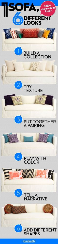 These quick decorating ideas will make your sofa look brand new.