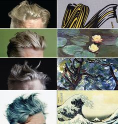Great study of David Lynch's hair compared to famous paintings. Pt 2