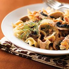 Portobello Mushroom Stroganoff - Clean Eating