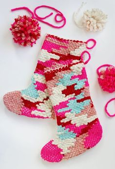 DIY // Weave your own Christmas stockings