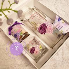 """HAMPERS MANYUE BANDUNG di Instagram """"Time to share memories... with exclusive water jug with beautiful purple flower by gracia gift. Its sweeten your time with all family .…"""" All Family, Gift Hampers, Contrast Color, Purple Flowers, Gift Wrapping, Memories, Water, Dress, Gifts"""