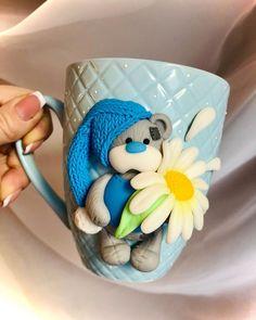 🎁Полимерная глина🍀декор в Instagram: «Кто же не любит мишек Тедди?))) Малыш Тедди))) Весеннего солнышка. Не знаете,что подарить любимым и близким? Приятное и полезное? Хочется…» Mugs, Tableware, Dinnerware, Tumblers, Tablewares, Mug, Dishes, Place Settings, Cups