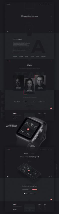 Website creation for Mobilex on Behance