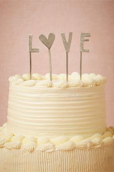 L-O-V-E Cake Topper perfect for Valentines Day!