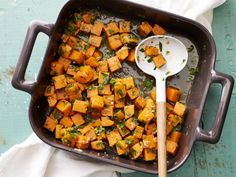 Sweet Potatoes with Maple-Horseradish Butter: The combination of maple syrup, horseradish and butter in these slightly sweet and sharp spuds-perfect for your next holiday dinner-is a home run. You won't even notice that they're low in fat.