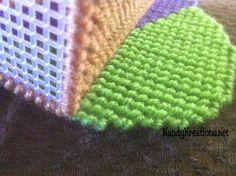 Turkey Napkin Holder Free Plastic Canvas Pattern overcast edges